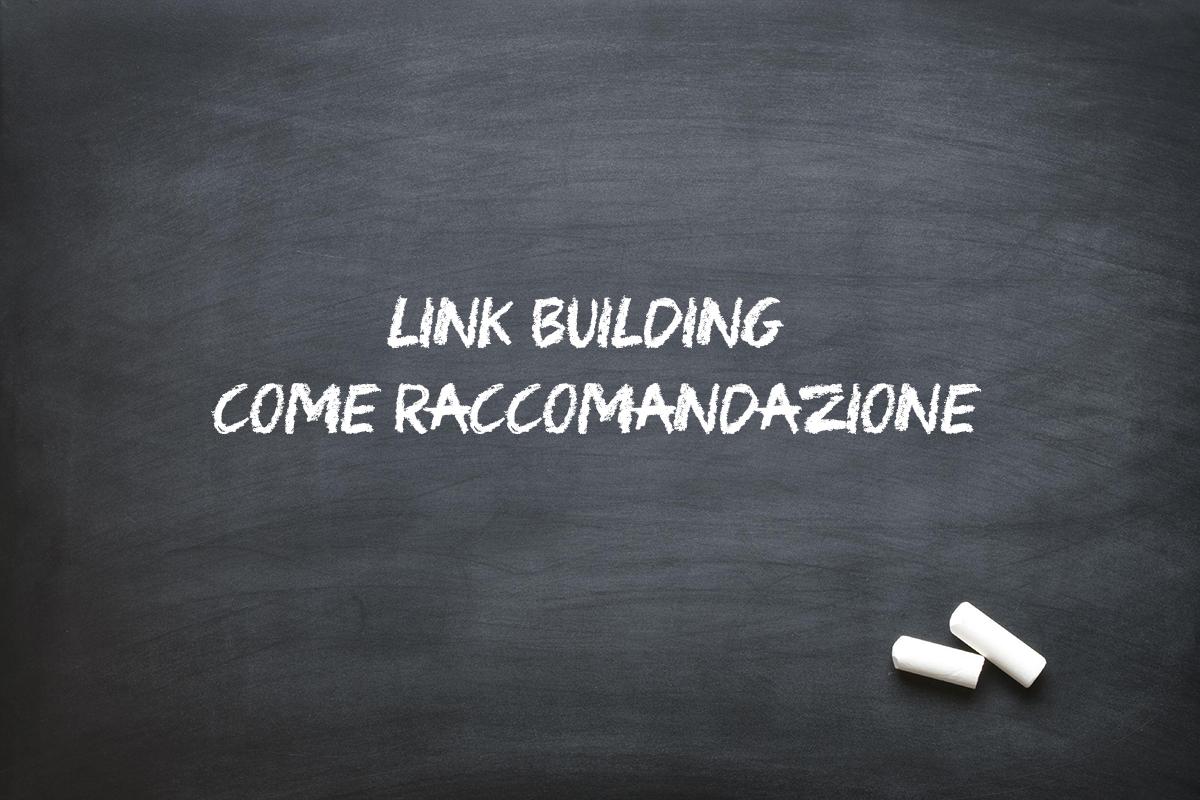 link building seo come raccomandazione
